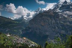 La ciudad Murren, Suiza Foto de archivo