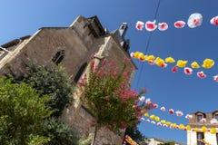La ciudad natal de Cyrano de Bergerac fotografía de archivo