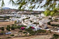 La ciudad pintoresca de los Milos isla, Cícladas, Grecia Foto de archivo libre de regalías