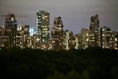 La ciudad por la tarde Imagen de archivo libre de regalías