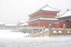La ciudad prohibida en la nieve Fotografía de archivo
