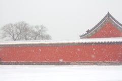 La ciudad prohibida en la nieve Fotos de archivo