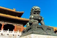 La ciudad Prohibida en Pekín fotografía de archivo