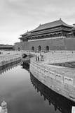 La ciudad prohibida (gongo de Gu) en blanco y negro Imágenes de archivo libres de regalías