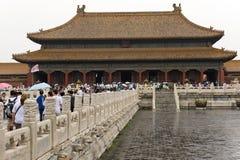 La ciudad Prohibida Pekín fotografía de archivo