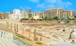 La ciudad romana Foto de archivo libre de regalías