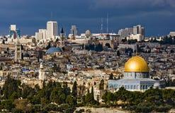 La ciudad santa Jerusalén Fotos de archivo libres de regalías