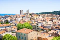 La ciudad vieja de Antibes, riviera francesa Imágenes de archivo libres de regalías