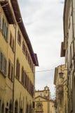 La ciudad vieja de Arezzo Foto de archivo libre de regalías