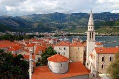 La ciudad vieja de Budva, Montenegro Foto de archivo libre de regalías