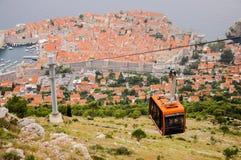 La ciudad vieja de Dubrovnik vista desde arriba Foto de archivo