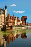 La ciudad vieja de Gdansk Fotos de archivo libres de regalías