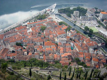 La ciudad vieja de Kotor Imágenes de archivo libres de regalías