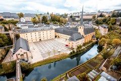 La ciudad vieja de la ciudad de Luxemburgo Imágenes de archivo libres de regalías