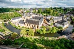 La ciudad vieja de la ciudad de Luxemburgo Foto de archivo