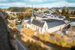 La ciudad vieja de la ciudad de Luxemburgo Imagen de archivo libre de regalías
