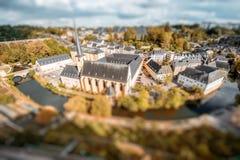 La ciudad vieja de la ciudad de Luxemburgo Fotografía de archivo libre de regalías