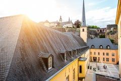 La ciudad vieja de la ciudad de Luxemburgo Foto de archivo libre de regalías