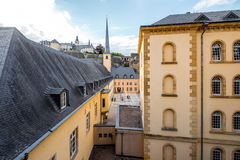 La ciudad vieja de la ciudad de Luxemburgo Fotos de archivo libres de regalías