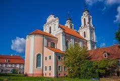 La ciudad vieja de Vilna, Lituania fotos de archivo