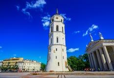 La ciudad vieja de Vilna, Lituania fotografía de archivo