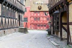 La ciudad vieja en Aarhus, Dinamarca Imagen de archivo libre de regalías
