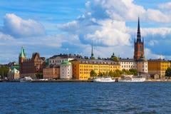 La ciudad vieja en Estocolmo, Suecia Foto de archivo libre de regalías