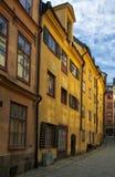 La ciudad vieja en Estocolmo, Suecia Fotos de archivo libres de regalías