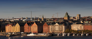 La ciudad vieja en Estocolmo, Suecia Imágenes de archivo libres de regalías