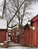 La ciudad vieja en Linköping Fotos de archivo libres de regalías