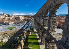La ciudad vieja maravillosa Segovia, España foto de archivo
