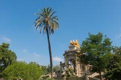 La ciudadela del parque en Barcelona, España Imagen de archivo