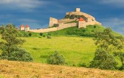 La ciudadela medieval famosa de la fortaleza en Rupea, Brasov, Transilvania, Rumania Imagen de archivo libre de regalías