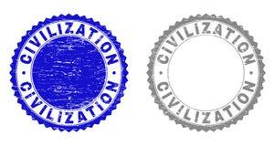 La CIVILIZACIÓN del Grunge texturizó filigranas ilustración del vector
