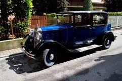 La clássico azul Mille Miglia 2016 de Aspettando do sedanat Fotos de Stock