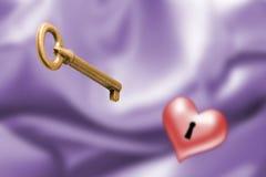 la clé à l'amour Photographie stock libre de droits