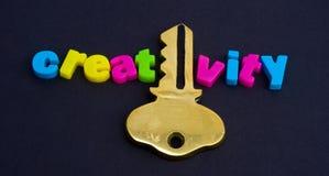 La clé à la créativité. photo stock
