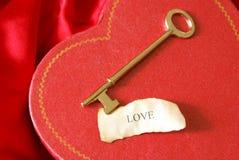 La clé à mon coeur Photographie stock