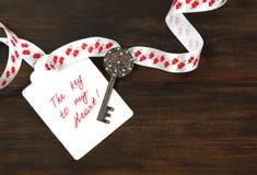 La clé à mon coeur Photos stock