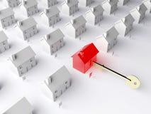 La clé au marché du logement Photographie stock libre de droits