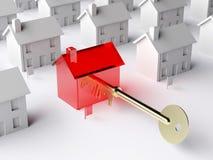 La clé au marché du logement Photo stock