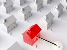 La clé au marché du logement Image libre de droits