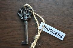 La clé aux succes Photo stock