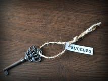 La clé aux succes Photos libres de droits