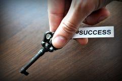 La clé aux succes Image libre de droits