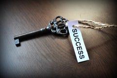 La clé aux succes Images libres de droits