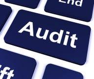 La clé d'audit montre le commissaire aux comptes Validation Or Inspection illustration de vecteur