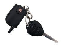 La clé de contact de véhicule photographie stock libre de droits