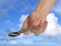 La clé de la réussite. Image stock