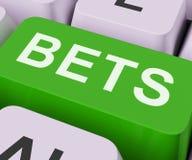 La clé de paris montre en ligne ou Internet jouant Images stock